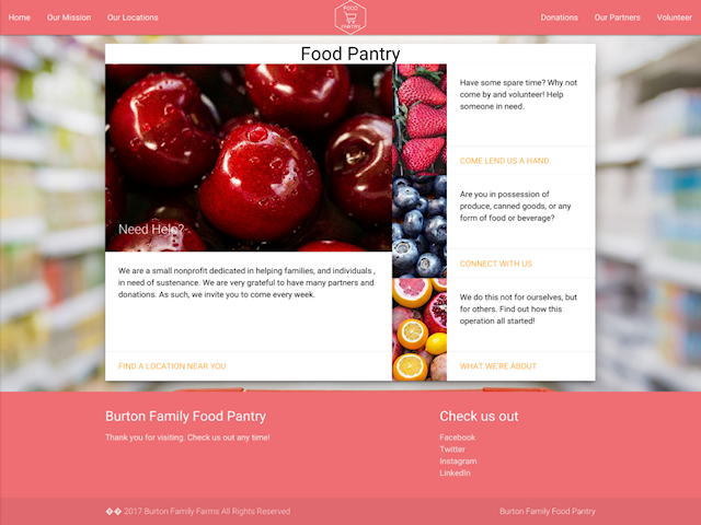 food pantry concept