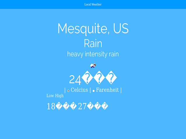local weather using a weather API